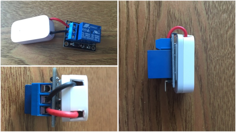 도어센서와 릴레이스위치를 이용한 USB단자 있는 전자제품 상태 동기화